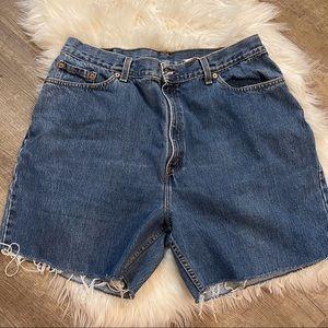 Levi's 505 cut off high waist shorts